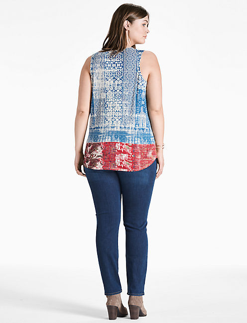 EMBROIDERED BIB TANK,