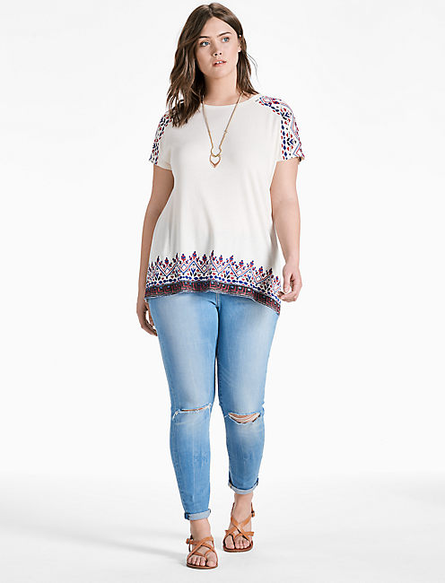 Lucky Americana Embroidered Tee
