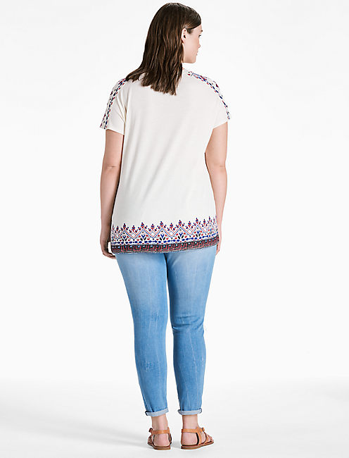 AMERICANA EMBROIDERED TEE,