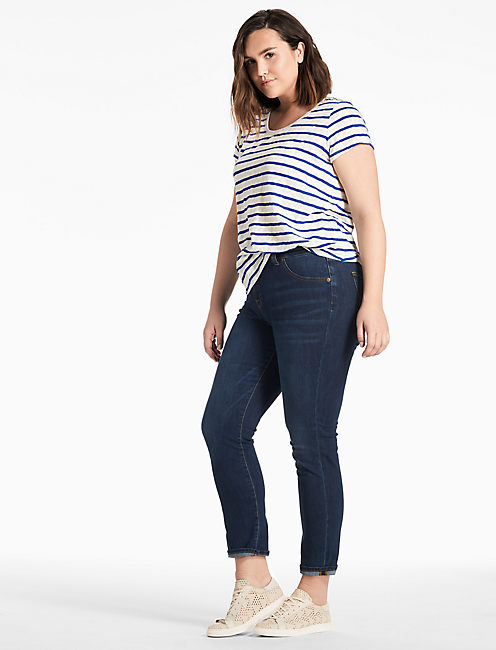 Lucky Stripe V-neck Tee