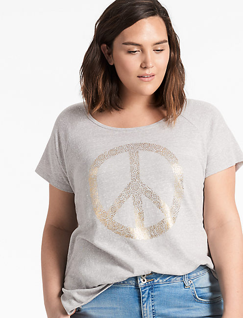 PEACE SIGN TEE,