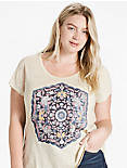 TEMPLE MANDALA TEE, NATURAL MULTI