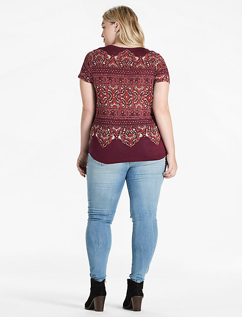 ORNATE BORDER TEE,