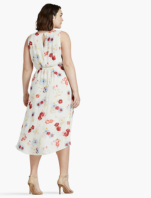 FLORAL PRINTED MAXI DRESS, NATURAL MULTI