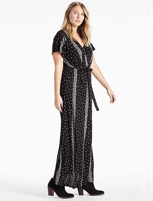 Lucky Striped Ditsy Maxi Dress