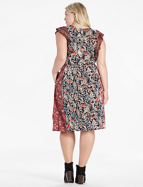 MIXED FLORAL DRESS,