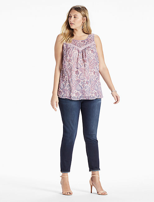 Lucky Paisley Lace Tank