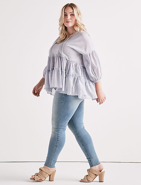 Lucky Tiered Peasant Top