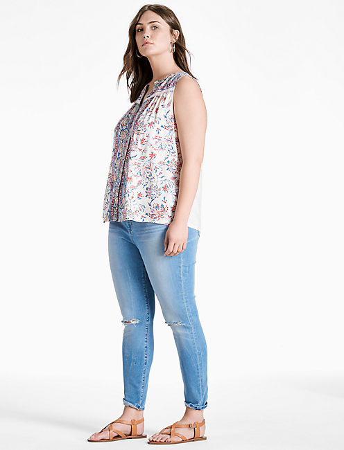 Lucky Printed Floral Tank