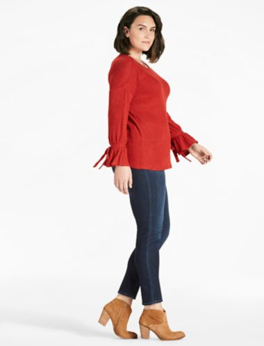Lucky Bell Sleeve Swit Top