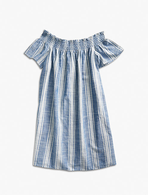 TENCEL OFF SHOULDER DRESS,