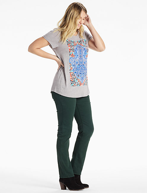 WATERCOLOR HAMSA HAND TEE, HEATHER GREY
