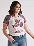 WOODSTOCK TEE, PURPLE MULTI