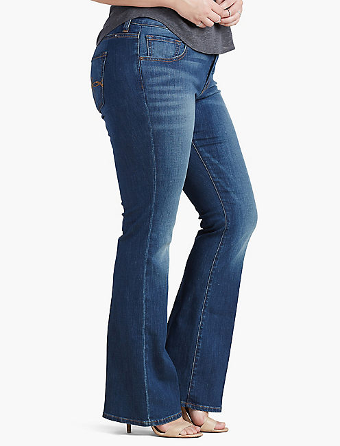 PLUS SIZE GINGER PETITE BOOTCUT JEAN IN AMAZONITE, AMAZONITE