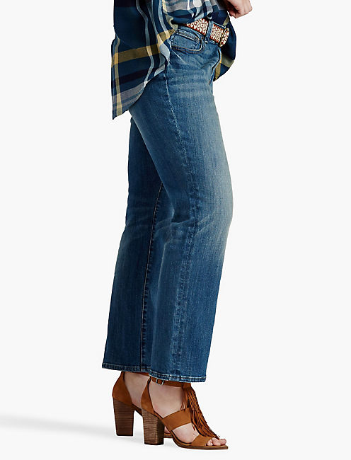 Lucky Plus Size Georgia Petite Straight Leg Jean In Sarasota