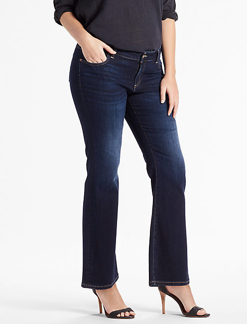 PLUS SIZE GINGER PETITE BOOTCUT JEAN IN TWILIGHT BLUE,