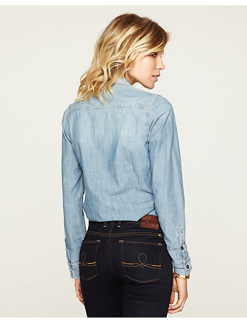 CHAMBRAY SHIRT, LIGHT CANFIELD