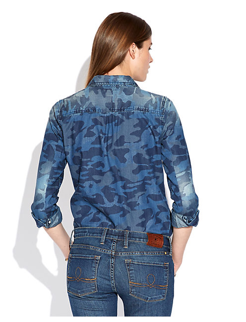 JANE CAMO CHAMBRAY SHIRT, MOULTRIE