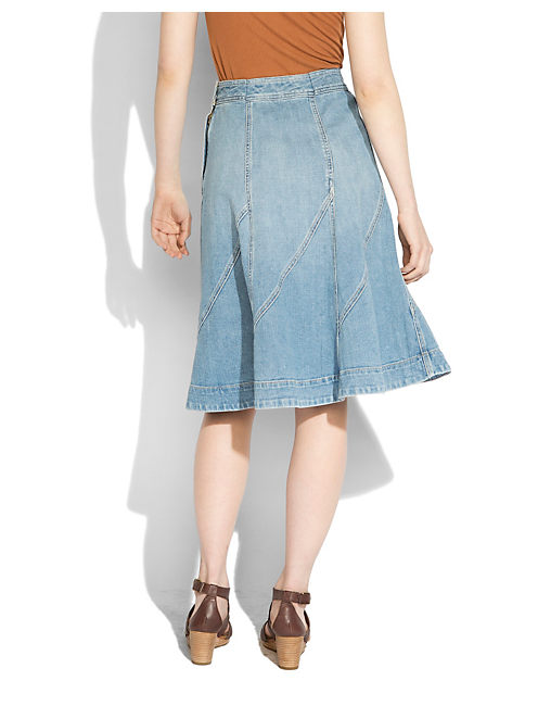 MIDI PANELED SKIRT, SHORELAND