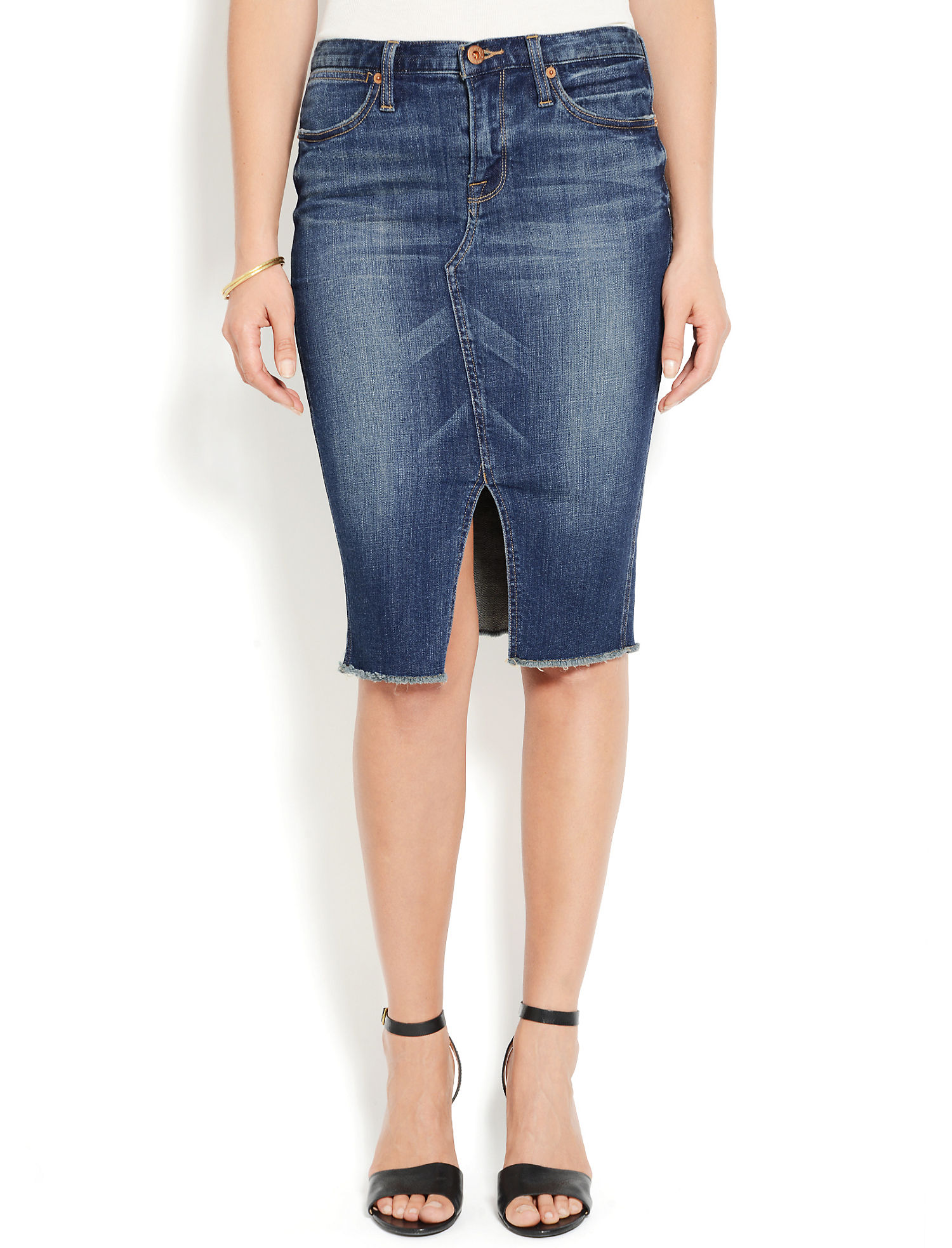 DENIM SLIT SKIRT - Lucky Brand 2.0