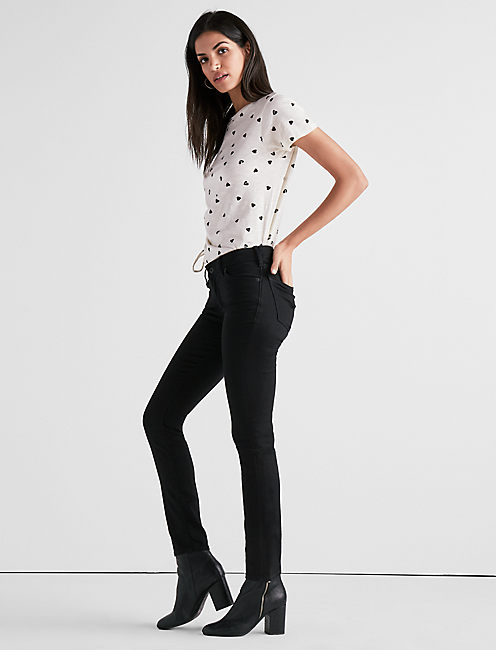 Lucky Lolita Mid Rise Skinny Jean In Black Amber