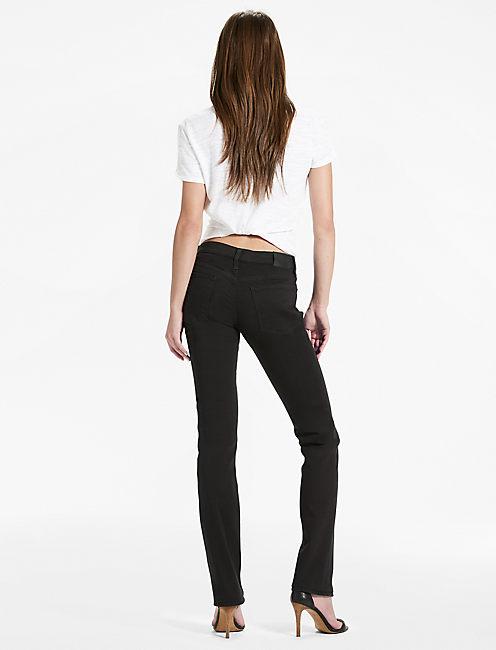 SWEET MID RISE STRAIGHT LEG JEAN IN BLACK AMBER,