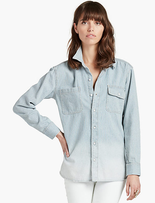 RAILROAD BOYFRIEND SHIRT,