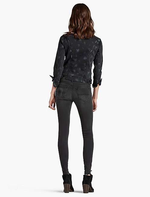 BROOKE MID RISE LEGGING JEAN IN STORM SURGE,