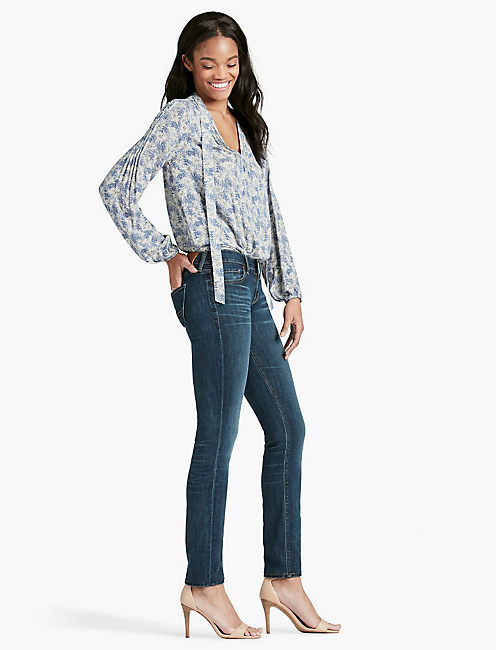 Lucky Sofia Mid Rise Skinny Jean In Barrier