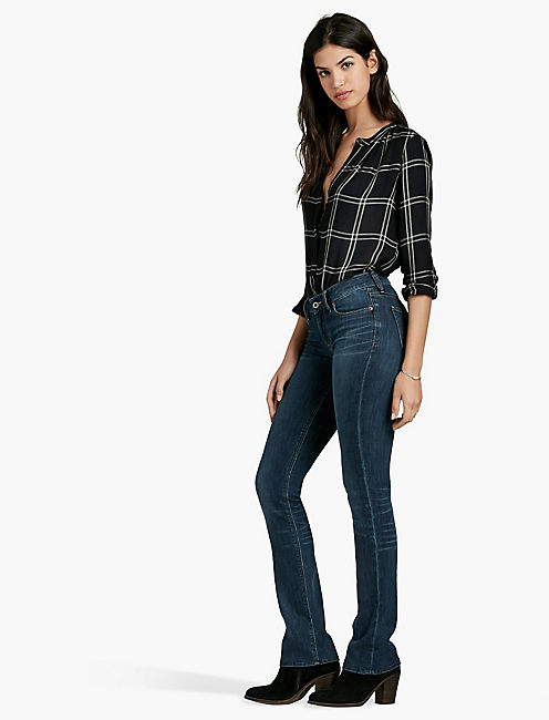 Lucky Sasha Mid Rise Bootcut Jean In Barrier