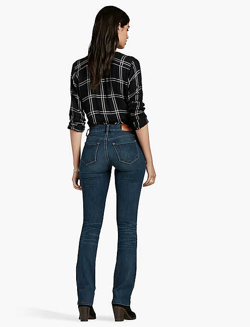 SASHA MID RISE BOOTCUT JEAN IN BARRIER, BARRIER