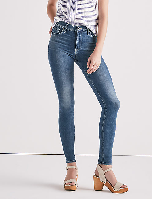 BRIDGETTE HIGH RISE SKINNY JEAN IN SUNSET BLUE,