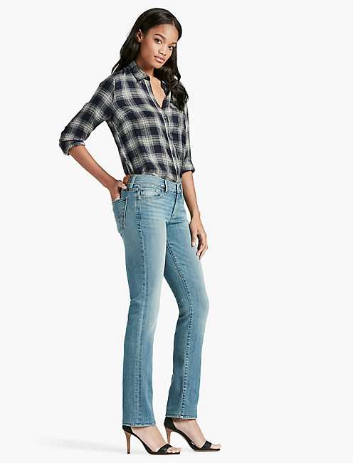 Lucky Sweet Mid Rise Straight Leg Jean In Reflection