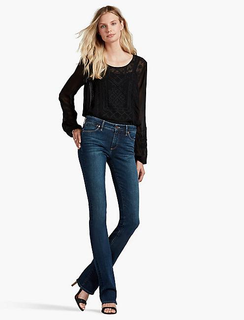 Lucky Hayden High Rise Sculpting Boot Jean In Lucky Blue