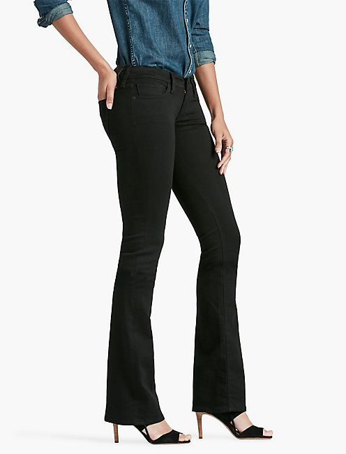 CHARLIE LOW RISE MINI BOOTCUT JEAN IN BLACK AMBER, BLACK AMBER