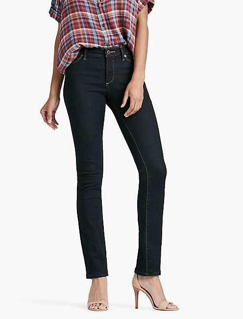HAYDEN HIGH RISE SCULPTING STRAIGHT LEG JEAN IN LAKESHORE, LAKESHORE