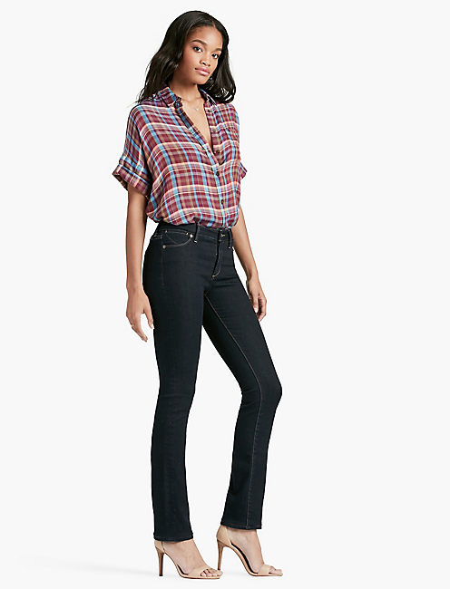 Lucky Hayden High Rise Sculpting Straight Leg Jean In Lakeshore