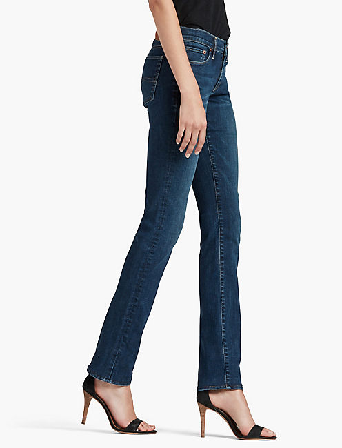 SWEET MID RISE STRAIGHT LEG JEAN IN LUCKY BLUE, LUCKY BLUE