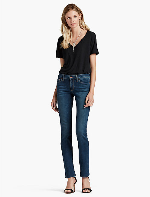 Lucky Sweet Mid Rise Straight Leg Jean In Lucky Blue