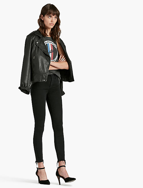 BRIDGETTE SKINNY JEAN, BLACK DESTRUCTED
