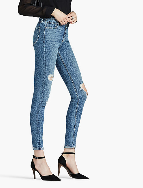 Embroidered jeans lucky brand