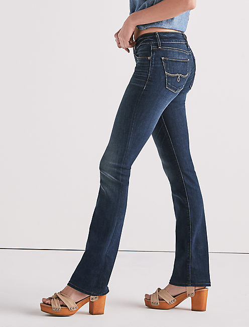 LOLITA MID RISE BOOTCUT JEAN IN SAND HILL, SAND HILL