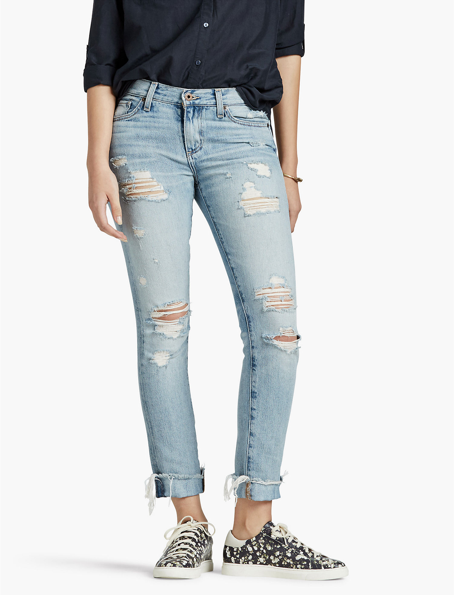 Womens Ripped Boyfriend Jeans | Lucky Brand