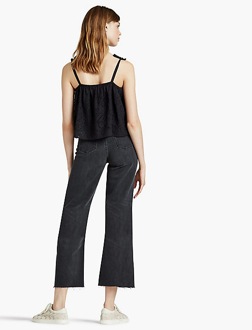 WIDE LEG CROP JEAN, HUMBLED