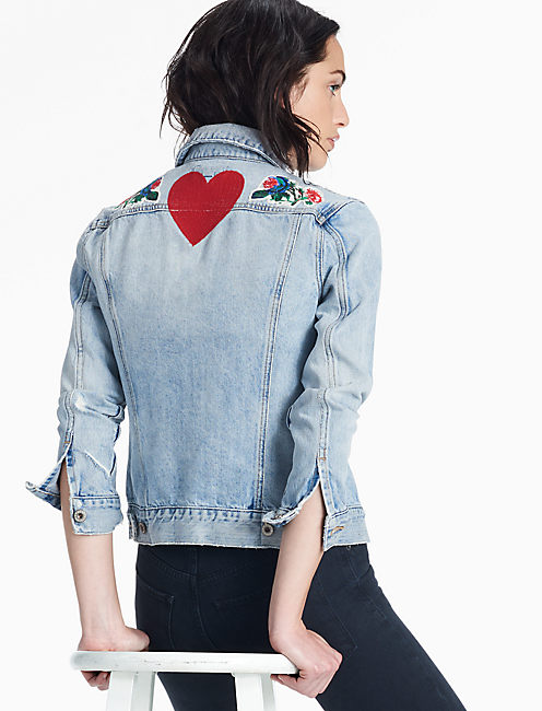 TOMBOY TRUCKER JACKET, GARDEN RIDGE