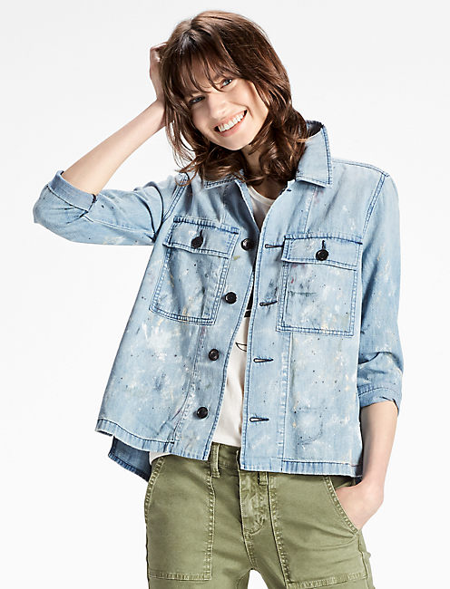 DENIM UTILITY SHIRT JACKET IN QUITMAN, QUITMAN