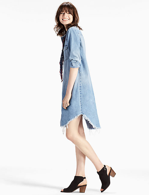 Lucky Denim Western Shirt Dress