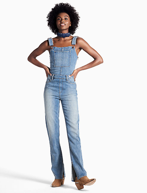 Lucky Bridgette Fitted Denim Overalls In Alice