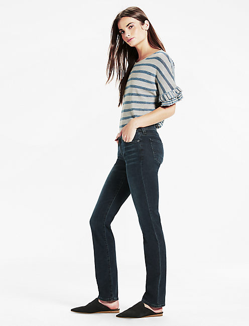 Lucky Sweet Mid Rise Straight Leg Jean In Roamer