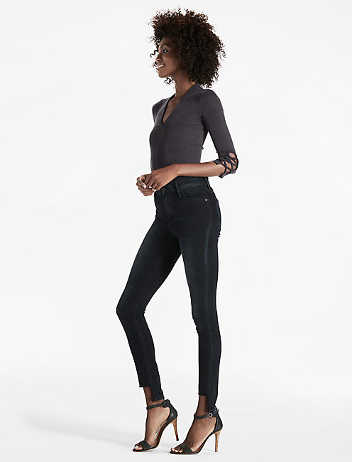 Lucky Bridgette High Rise Step Hem Skinny Jean